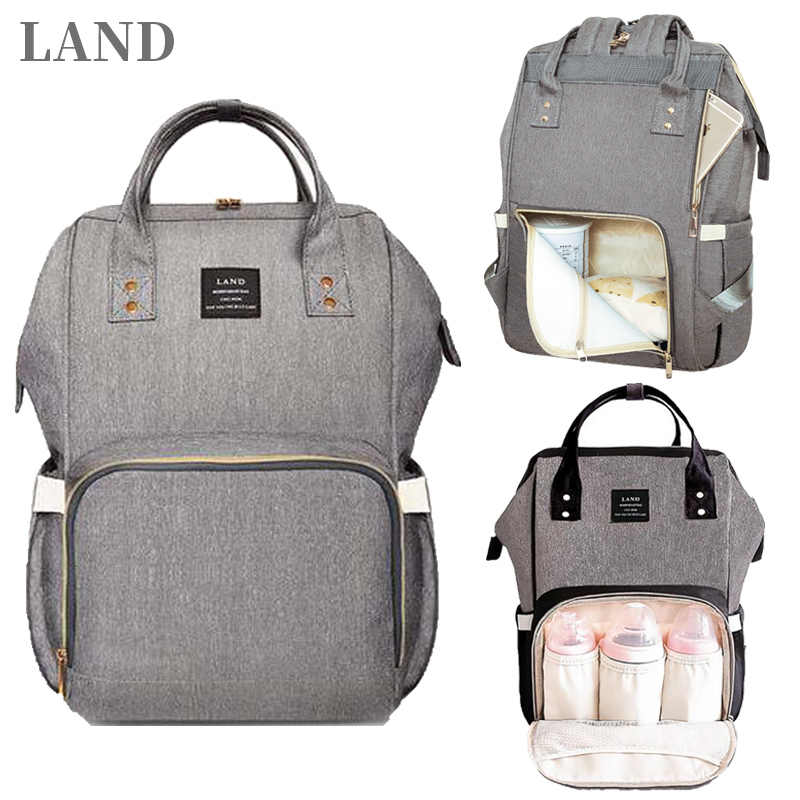 fbd1db97e LAND Bag Dropshipping Diaper Bag Backpack Mummy Bag Maternity Multi-colored  Bag For Baby Care