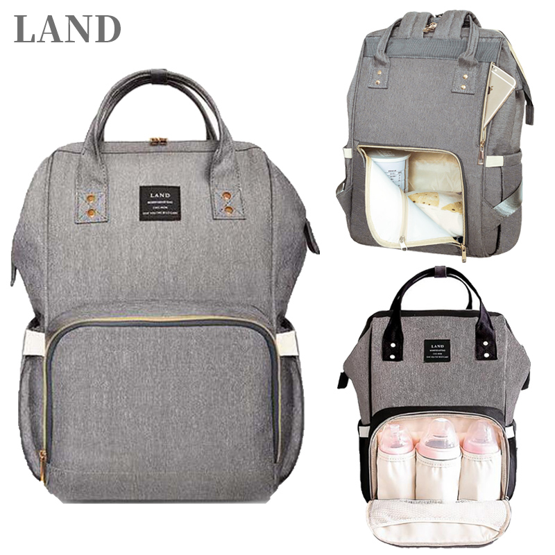 LAND Bag Dropshipping Diaper Bag Backpack Mummy Bag Maternity Multi-colored Bag For Baby Care mochila maternidade landLAND Bag Dropshipping Diaper Bag Backpack Mummy Bag Maternity Multi-colored Bag For Baby Care mochila maternidade land