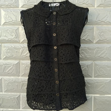 2014 fashion plus size clothing summer mm chiffon lace patchwork slim cardigan ultralarge Lace Top