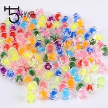 10 мм внутренний цвет квадратные пластиковые бусины для изготовления браслетов для женщин Diy аксессуары свободные акриловые бусины оптом O002