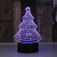 Christmas Tree 3D Night Light For Kids Touch Usb Table Lampara Lampe Baby Sleeping Nightlight 7