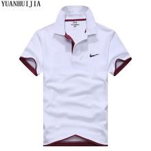 Polo romper es marca de ropa de hombre de moda Casual de los hombres camisas  de Polo Casual Tee camisa de alta calidad slim Fit 76f75669b676c