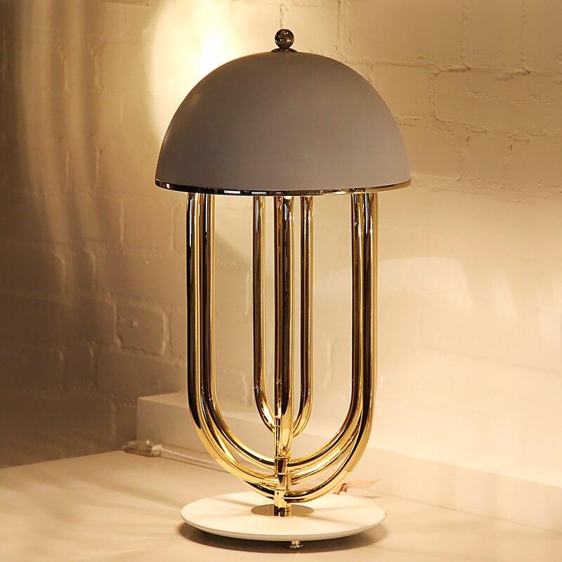 Современная металлическая настольная лампа, грибной светодиодный настольный светильник, черный, белый, золотой, настольная лампа, светильник для гостиной, спальни, настольная лампа для учебы TA007