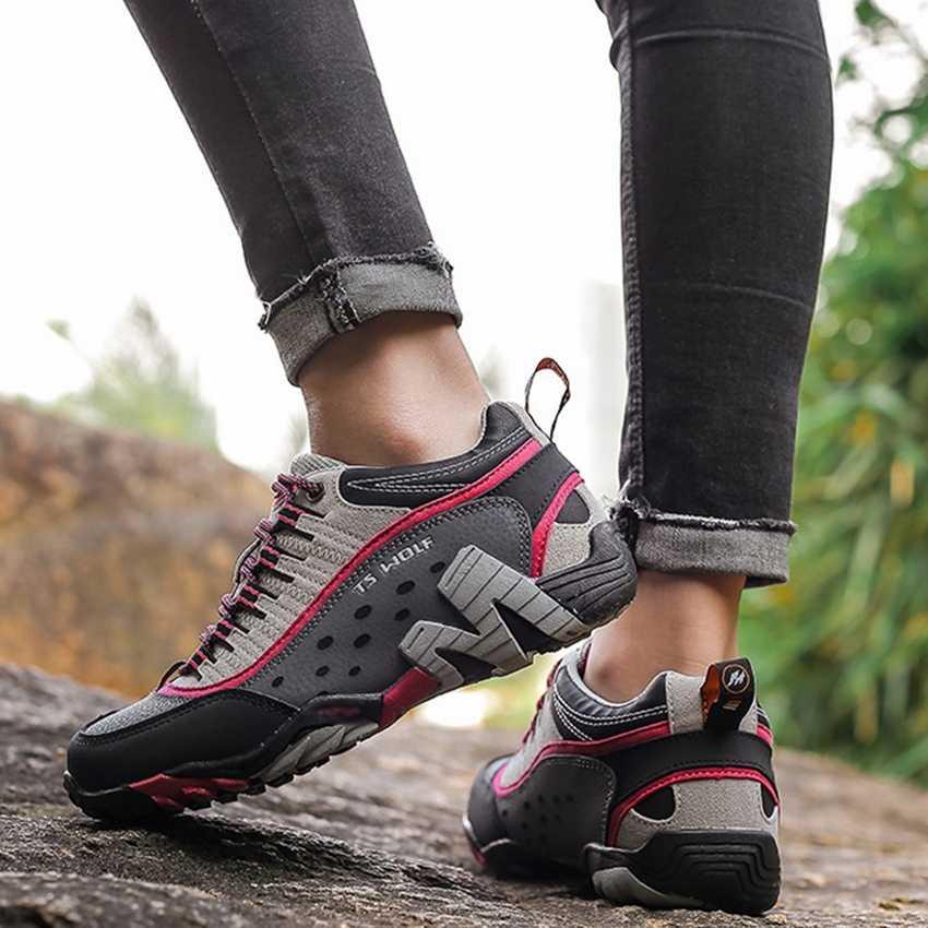 outdoor sport genuine leather running