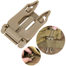 5pcs/lot Strong Clip Buckles Outdoor Survival EDC Tool Molle Strap EDC Backpack Bag Webbing Connecting Buckle Clip
