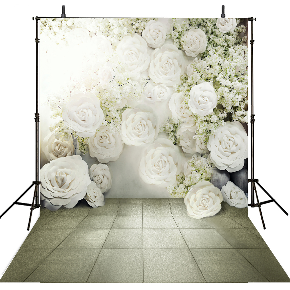 Floral Wedding Photography Backdrops Vinyl Backdrop For Photography Camera Fotografica Wedding Background For Photo Studio allenjoy photography background lovely clouds cotton hearts stars rainbow backdrop photo studio camera fotografica