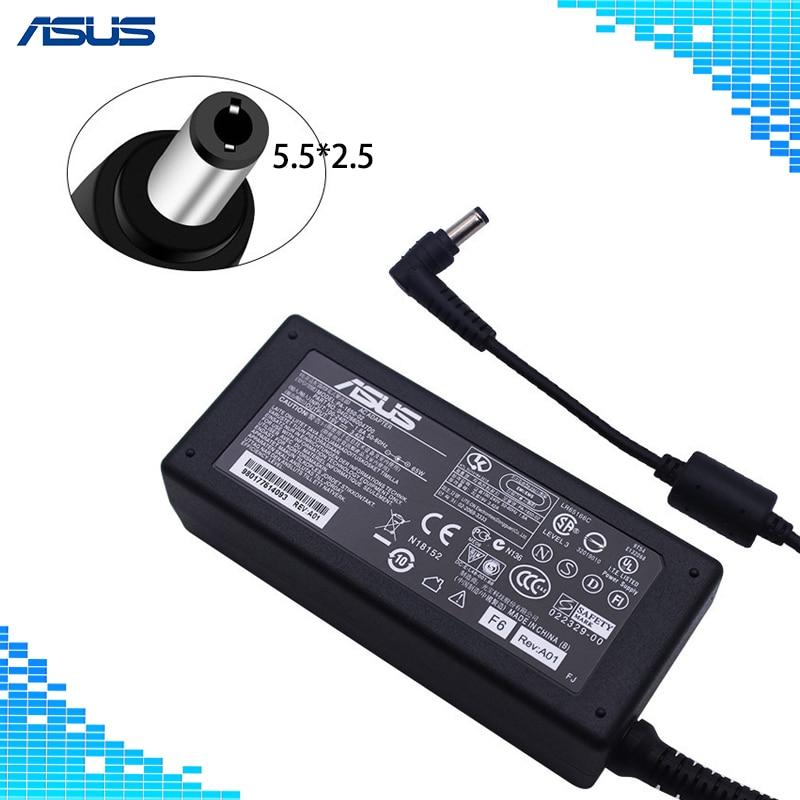 Ordinateur portable Adaptateur 19 v 3.42A 65 w 5.5*2.5mm PA-1650-02 AC Puissance Chargeur Pour ASUS A6000 F3 X50 x55 A3 A8 F6 F8 F83 F83CR X50 X550V V85