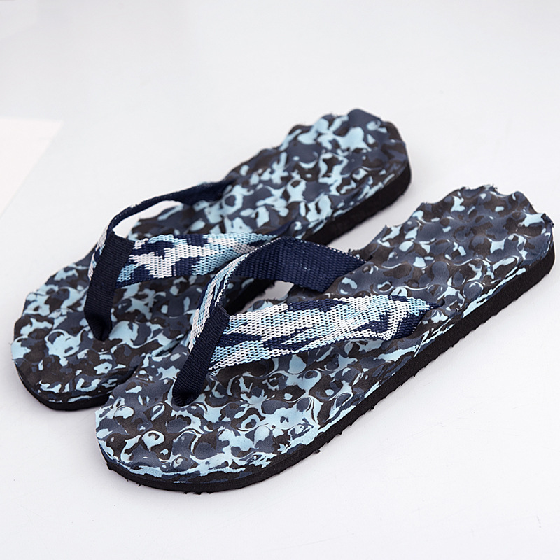 Summer Men Camouflage Beach Slippers Non Slip Flip Flops Casual Male Sandals Shoes Cheap Flat Slides SH15 coolsa new summer linen women slippers fabric eva flat non slip slides linen sandals home slipper lovers casual straw beach shoe