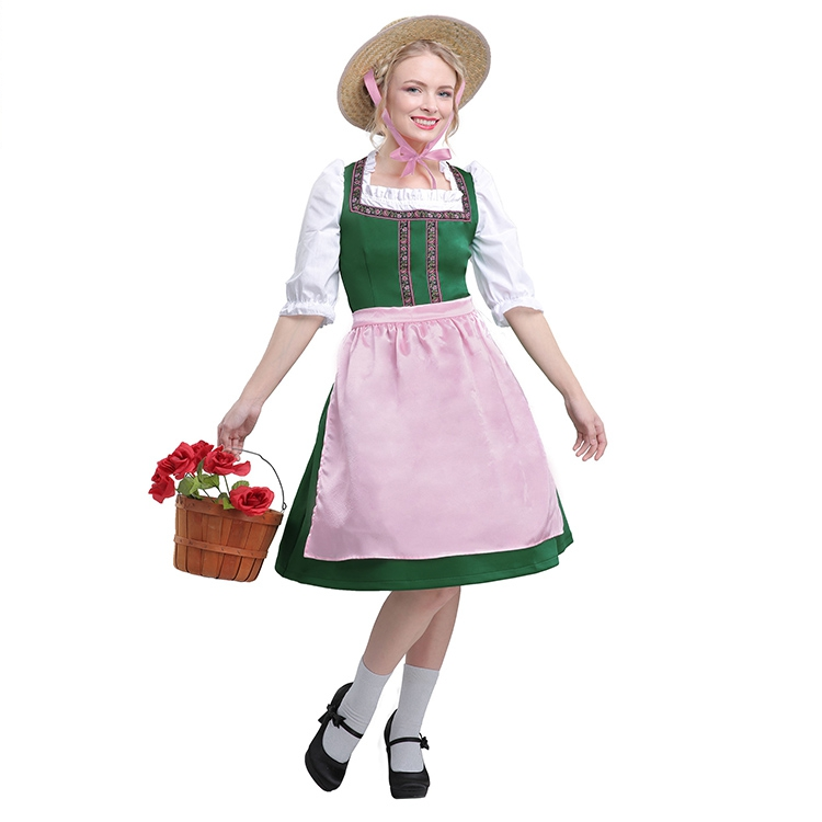 Hot Cosplay Halloween Costume Carnival Stage Costume German festival beer girl dress suit high end ...