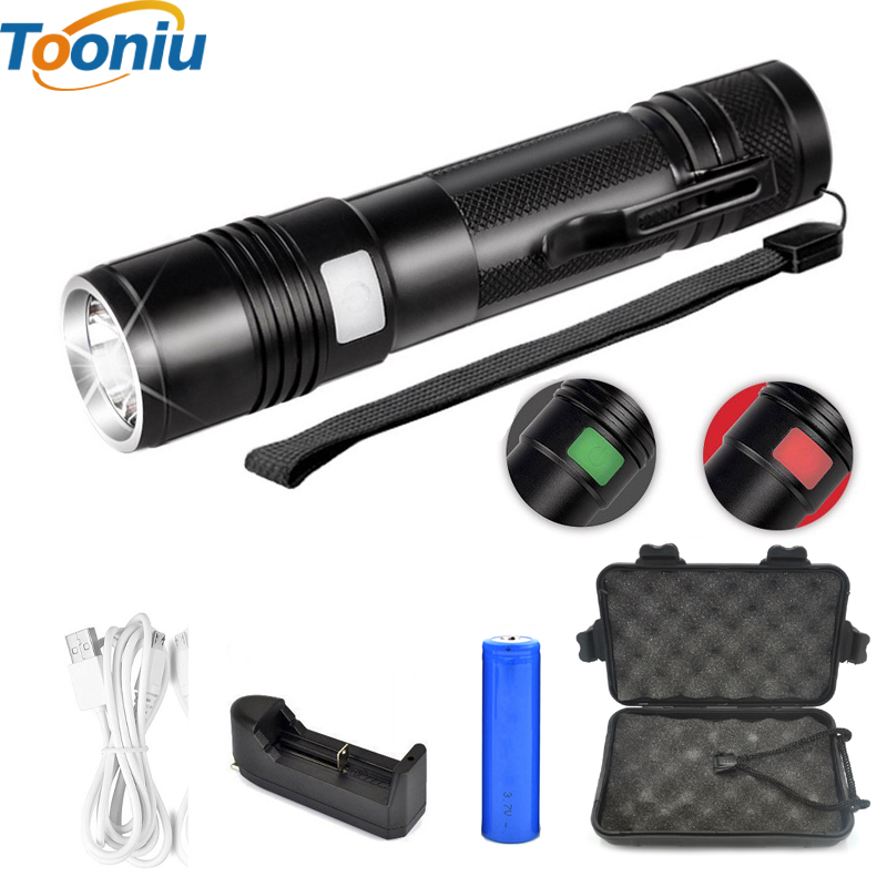 Flashlight XML-U2 Aluminum Waterproof Zoomable CREE USB LED Flashlight Torch light Lantern 5 Modes for 18650 Battery 3800lm aluminum waterproof bicycle lamp rechargable cycling light torches e17 cree xml t6 torch for 18650 battery driving lights