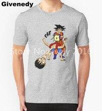 2016 summer new brand T Shirt cotton one piece Goku Punch Luffy popular cartoon t-shirt man top tee casual man short sleeve