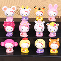 2016 NEW hot 5CM Hello Kitty Toys 12 Pcs/Set Best action figure toys Cool Christmas gift doll