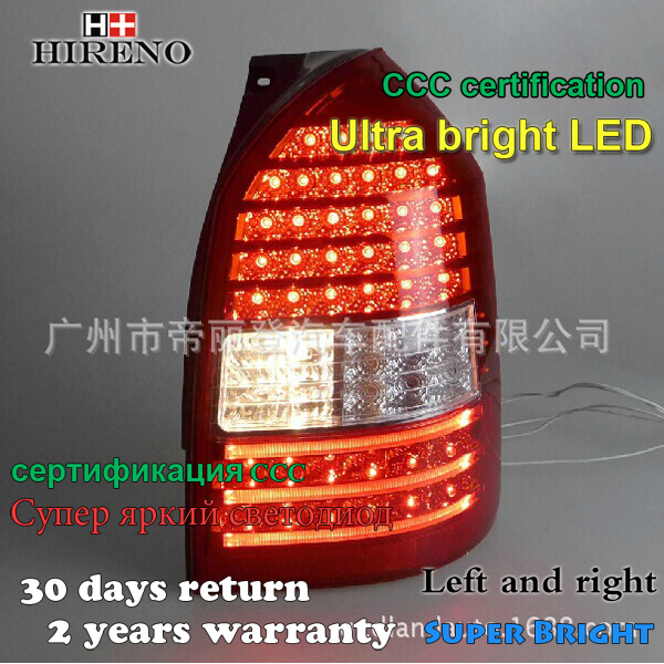 Hireno Tail Lamp for Hyundai Tucson 2009-13 LED Taillight Rear Lamp Parking Brake Turn Signal Lights