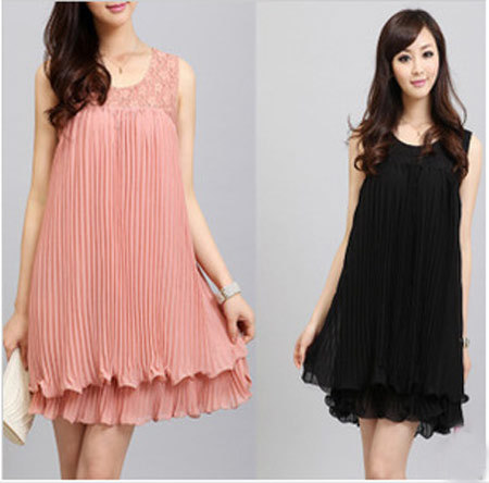 1b838b2d71c43 Flower Design Novelty Cute Chiffon Lace Knee length Casual Party Pregnant  Maternity Summer Dresses Women Clothing