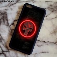 KETAOTAO The Punisher Skull Logo Phone Cases for iPhone 4S 5C 5S 6 6S 7 8