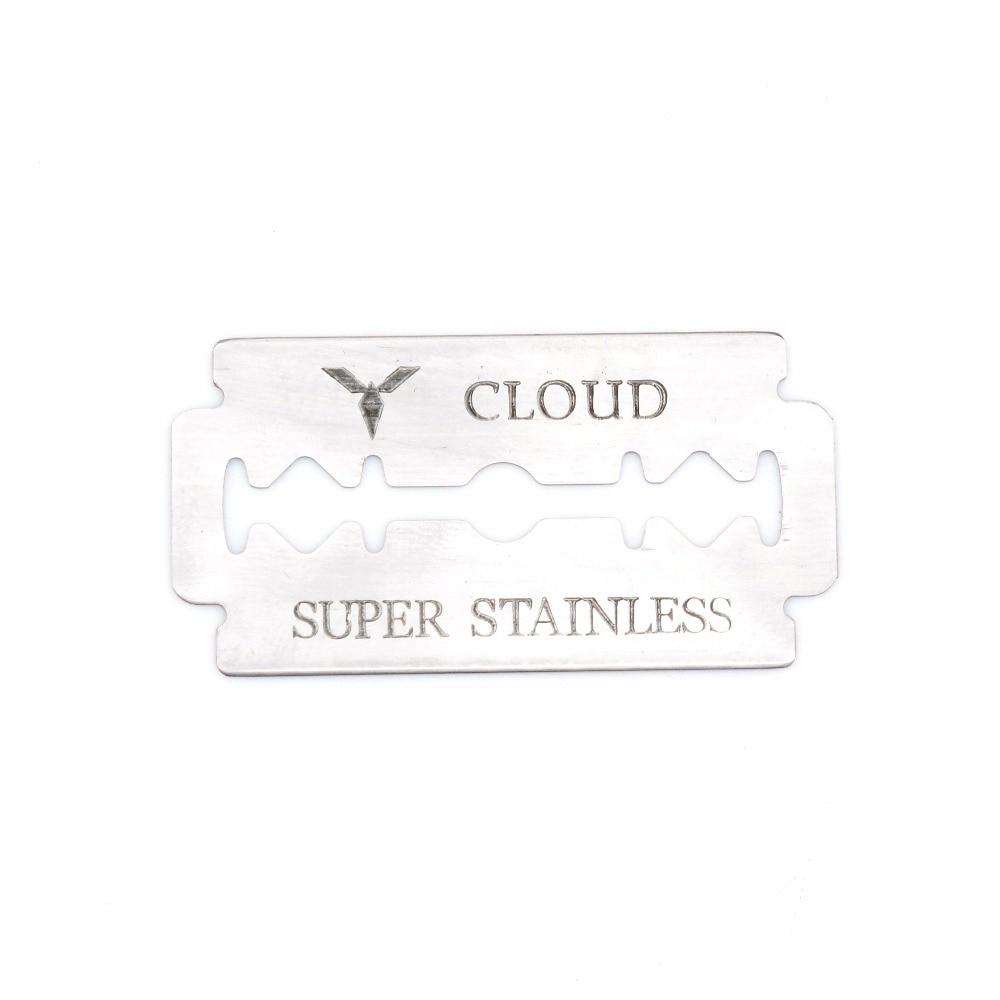 Stainless razor blade double edge blade for shave eye brow shaping 1000PCS/LOT NEW-in Rasoio da Bellezza e salute su  Gruppo 1