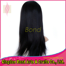 Natural Straight Brazilian Full Lace Hair Wig Top Quality 130% Density Full Lace Human Hair Wigs Free Shipping