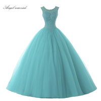 Angel married Turquoise Quinceanera Dress Sequins Beading Ball Gown Sweet 16 Dress Turquoise Quinceanera Dresses 2019 Custom