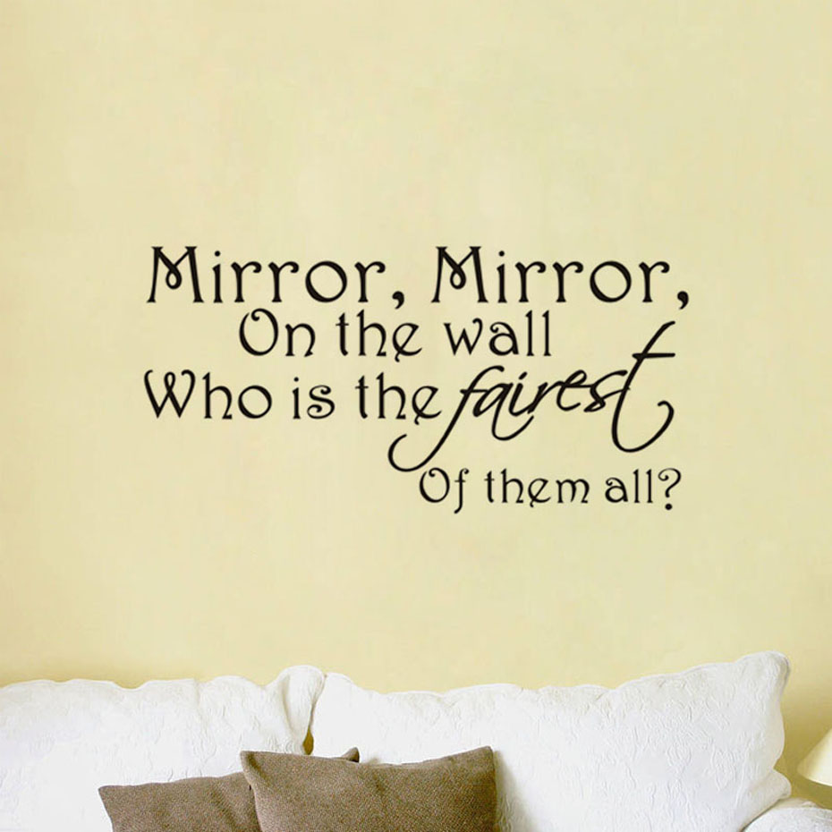 Snow White Magic Mirror Who Is The Most Fairest Wall Sticker Home ...