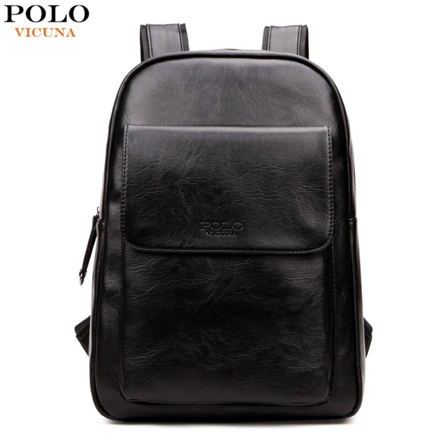VICUNA POLO Japan & Korean Style PU Leather Backpack For Men Brand ...