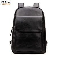 VICUNA POLO Japan Korean Style PU Leather Backpack For Men Brand New Student Back Pack For