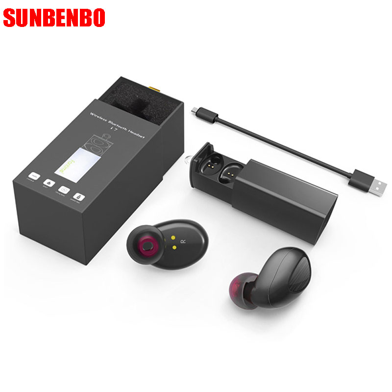 SUNBENBO New Bluetooth Earphone New Wireless Earbuds TWS i7 Headset With Charger Box PK Q29 x2t k2 For Iphone and Andriods remax 2 in1 mini bluetooth 4 0 headphones usb car charger dock wireless car headset bluetooth earphone for iphone 7 6s android