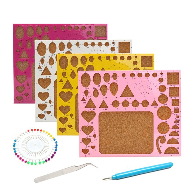DIY Craft Paper For Kids Hand-make Artwork Crafts Card Papers Tool Tweezers Pins Slotted Tool Kit
