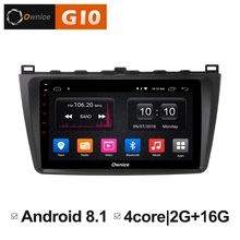 1024*600 Android 8.1 Quad 4 Core 2 GB RAM + 16 GB ROM lecteur DVD de voiture pour Mazda 6 Mazd6 2009-2015 GPS Navi Radio stéréo BT WIFI TPMS(China)