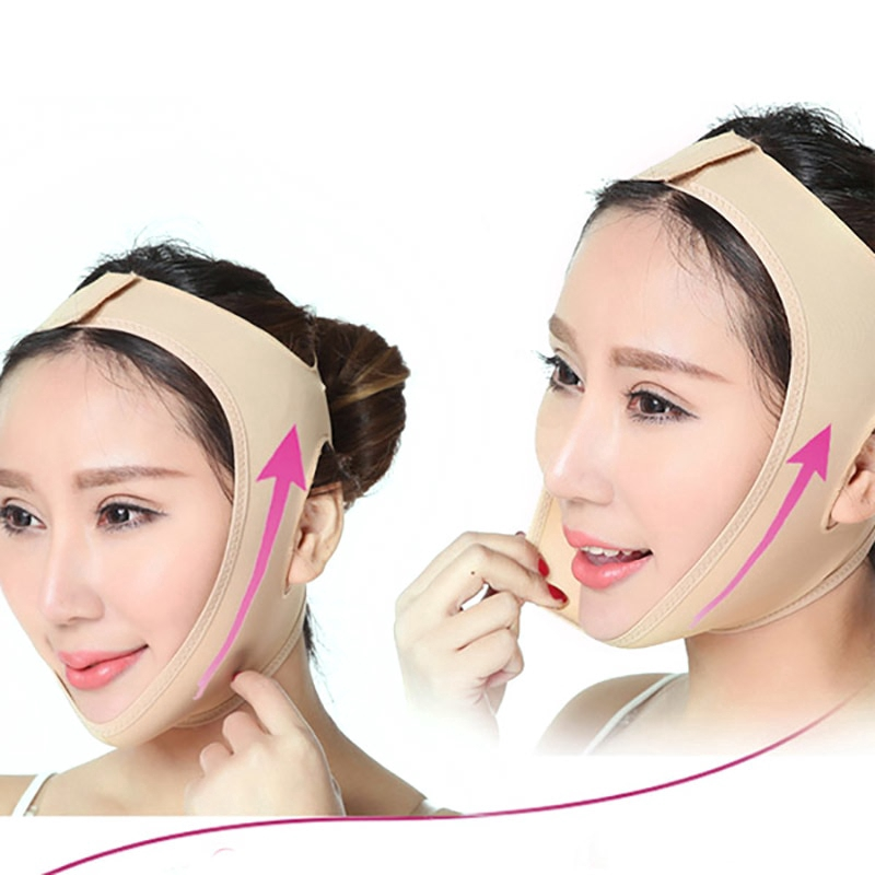 Reusable Thin Face Mask V-Line Lift Up Masks Slimming Bandage Chin Face Mask Face Thining Band Facial Mask