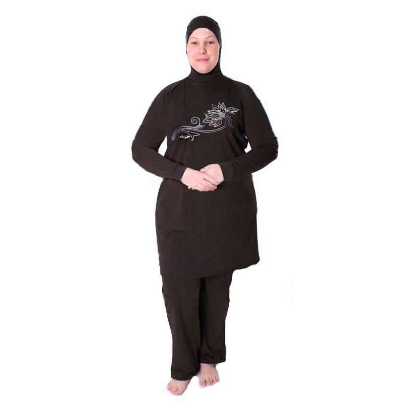 3834dfb9e77 plus size 5XL 2018 modest Muslim swimwear swimsuit for Islamic women ...