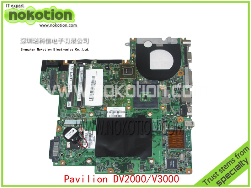 NOKOTION 460716-001 Laptop Motherboard for HP Compaq pavilion dv2000 V3000 G86-631-A2 update graphics Mainboard full tested nokotion 687229 001 qcl51 la 8712p laptop motherboard for hp pavilion m6 m6 1000 hd7670m ddr3 mainboard full tested