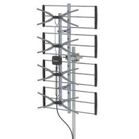 Leadzm TA W2 TV Antenna 470 860MHz 4 Grids 10m 3C 2V Double head Outdoor Antenna Without Stand UHF21 69 for Digital Signals
