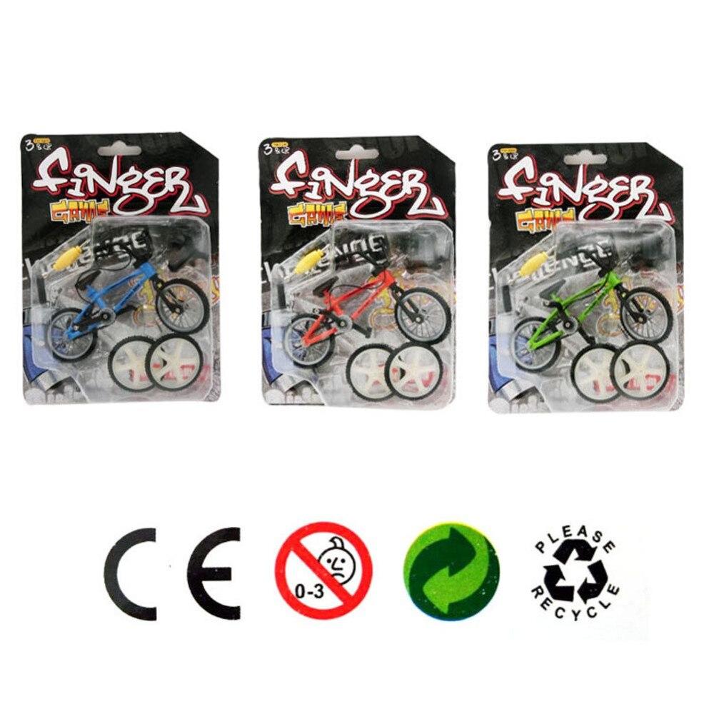 1 PC Alloy mini Finger Mountain Bikes BMX Fixie Bicycle Boy Toy Creative Game Gift Color Randmonly