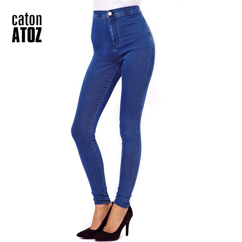 85ab6d340ba CatonATOZ 1894 nouveauté en gros femme Denim crayon pantalon marque Stretch  Jeans femmes taille haute Jeans