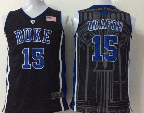 8ac0ef74845 Men s Duke Blue Devils  15 Jahlil Okafor College Football Jerseys New  Stitched Embroidery Cheap for wholesale-in Baseball Jerseys from Sports ...