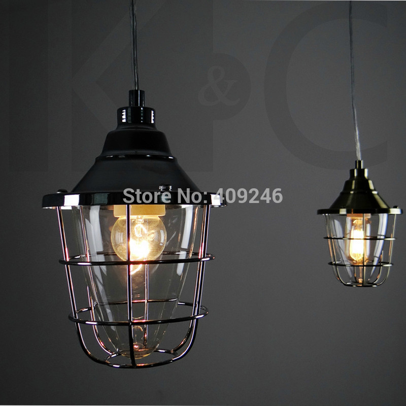 Edison Fashion Single Cage Pendant Light Glass Wrought Iron Industry Cafe Bar Home Decor Lighting Hall Coffee Shop Balcony 32cm vintage iron pendant light metal edison 3 light lighting fixture droplight cafe bar coffee shop hall store club