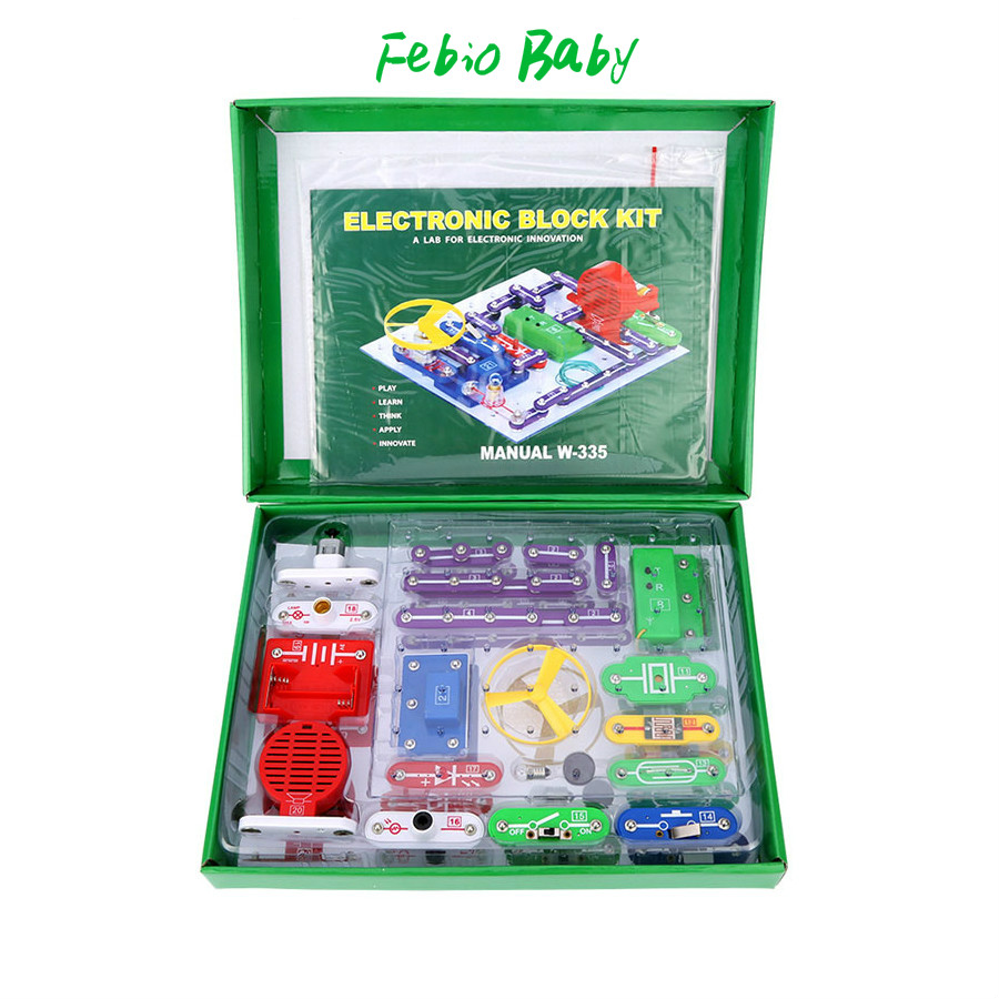 New Electronics Discovery Kit Smart Electronics Block Kit Educational Science Kit Toy DIY Building Blocks Electric Circuits Kit