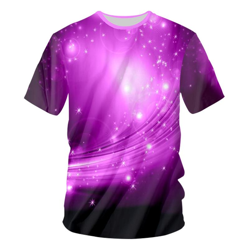 BenxSEA Led Sound Activated T Shirts Purple Light Up And Down Flashing Equalizer EL 3D T-Shirt Men For Rock Crewneck DJ Tops Tee