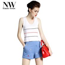 NordicWinds Stretch Top Tank Womens New Knitted Tanks Tops Women Camisole Vest Simple V-Neck Sleeveless Casual Tank Tops Lace Up