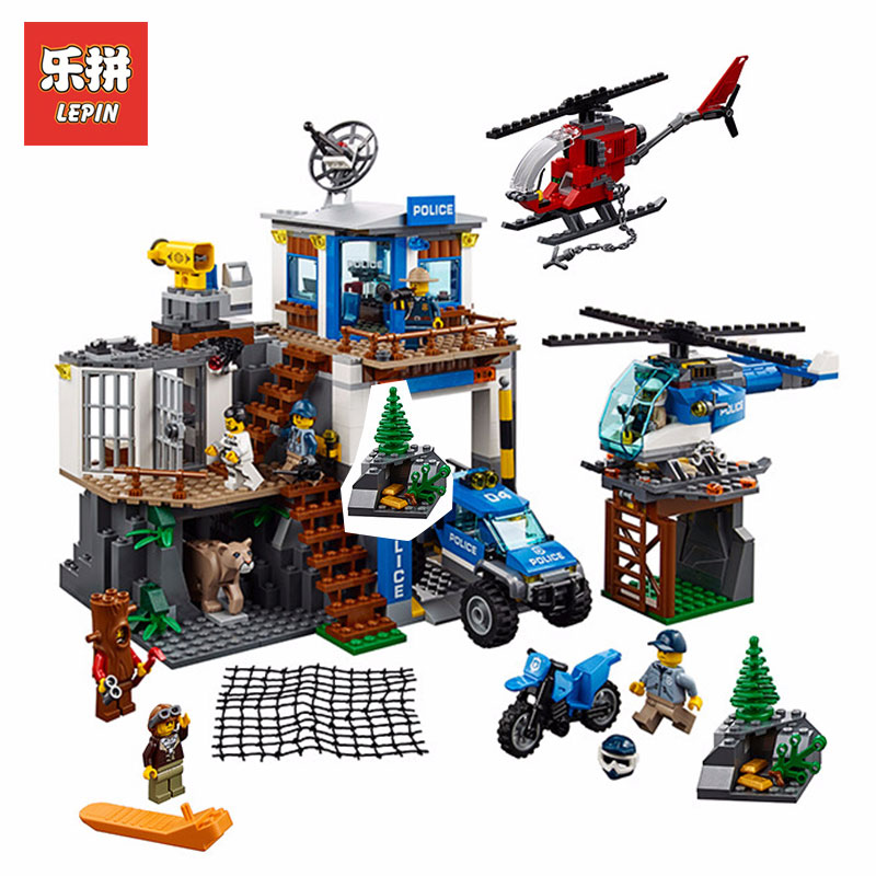 Lepin 02097 742Pcs City Series The Mountain Police Headquater Set LegoINGlys 60174 Building Blocks Bricks Toys Model For Child конструктор lepin city полицейский участок в горах 742 дет 02097