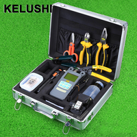 KELUSHI 25pcs FTTH Hot Melt welding tool kit with HS 30 Cleaver 10mW Visual Fault Locator and power meter fiber stripping tool