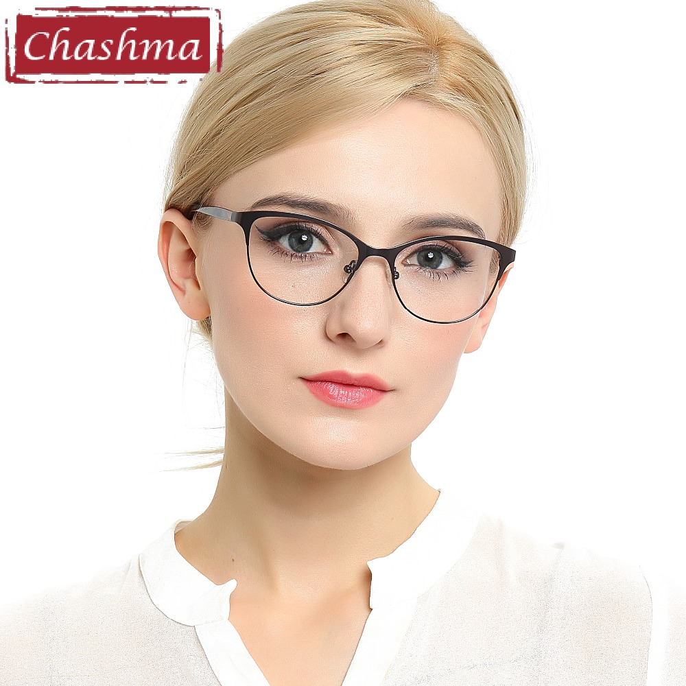 Chashma 2018 New Cat Eyes Style Glasses Kvinnor Toppkvalitet Kvinna Optiska Glasögon Frames Eyewear Fashion Eyewear