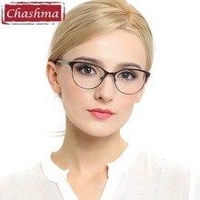 Chashma القط عيون نمط نظارات النساء أعلى جودة الإناث إطارات النظارات البصرية نظارات نظارات حديثة الطراز