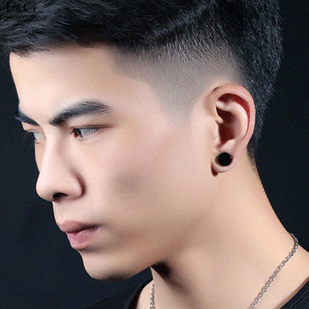 Fanala round stud earrings steel new magnetic on men ear piercing no stainless also rh aliexpress