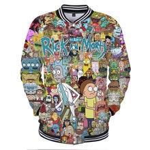 Rick and Morty Anime 3D printing Casual Jacket Fashion trend winter Jacket Baseball 3D Comics Jacket Apparel XS-4XL clothes