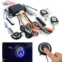 Universal PKE Auto Alarm System mit Motor Start/Stop Push Button Auto Ein Start-Stop mit Fernbedienung Anti -diebstahl Gerät