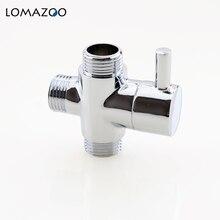 Латунный клапан 1/2 дюйма, делитель воды для ванной комнаты, смеситель для душа, 3-ходовой водяной клапан, Распылительная насадка, смеситель д...