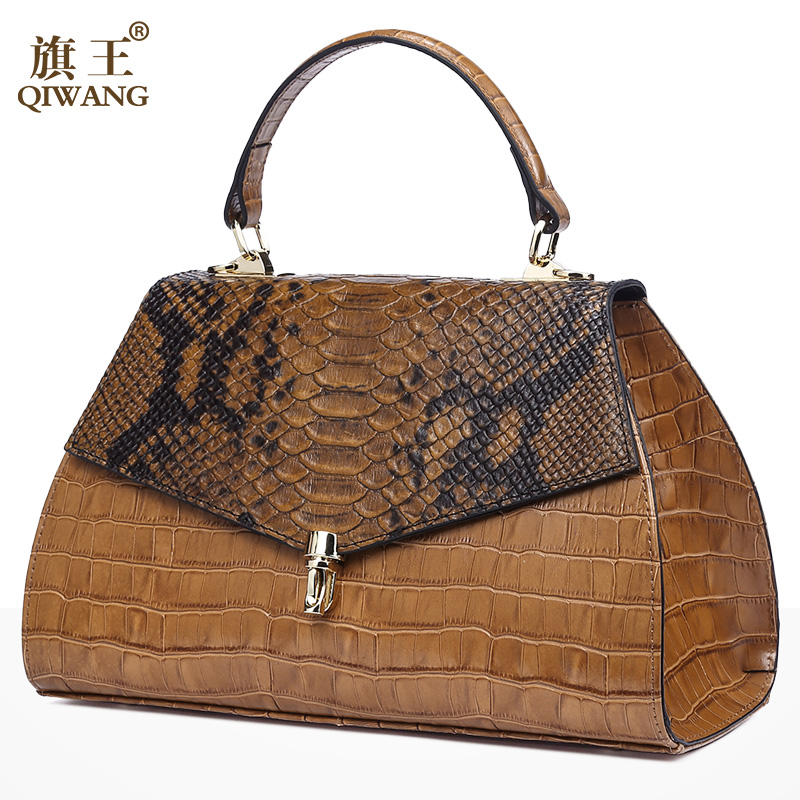 Brand Elegant Womens Leather Top-handle Bags Classic Fashion Ladies Alligator Embossed Leather Handbag Crocodile BagsBrand Elegant Womens Leather Top-handle Bags Classic Fashion Ladies Alligator Embossed Leather Handbag Crocodile Bags