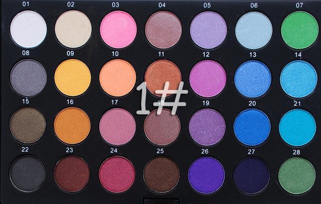 2015 nuevo 28 colores de sombra de ojos multicolor perla sombra de ojos Paleta de Sombra de ojos