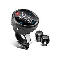 Et-910Ae Motorrad Tpms Reifendruck-monitor-system 2-Sensor Wireless LCD Display Moto Alarmanlage Motorrad